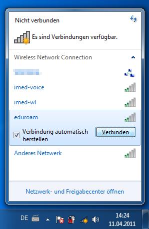 Eduroam Anleitung Windows 7 Medizinische Universität Innsbruck